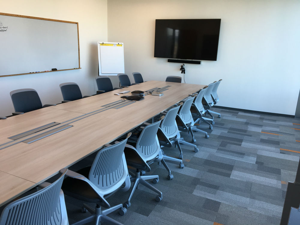 Conference Rooms Photo Gallery - Blue conference table